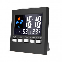 Weather Forecast Station Alarm Clock Lcd Screen Temperature