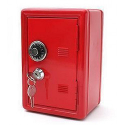 Mini Safe Shape Piggy Bank Password Box Piggy Bank Metal Password Safe Piggy Bank