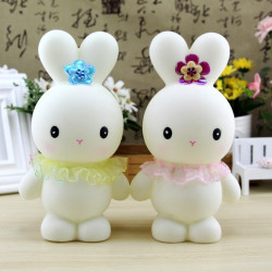 Cute Bunny Piggy Bank Rabbit Doll Doll Won'T Break Piggy Bank Decoration Baby Girl Gift