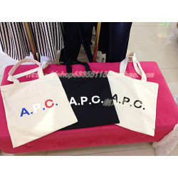 Japanese Single Apc Shopping  Bag Canvas Bag Hand Bag Shoulder Bag Apc Printed Letter School Bag